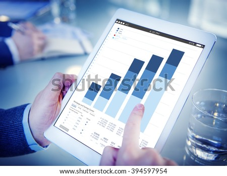 Office Worker Internet Connection Tablet Concept - stock photo