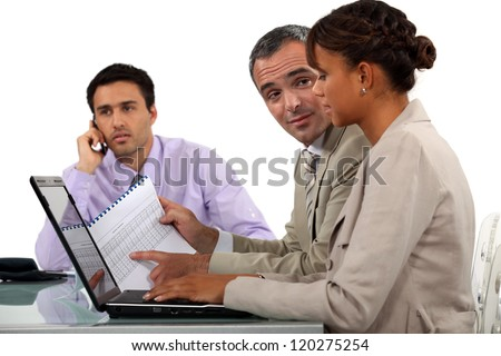 Office workers - stock photo