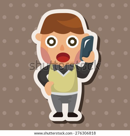 Office workers , cartoon sticker icon