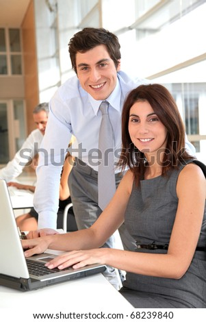 Office workers in the office - stock photo