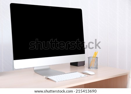 Office workplace with modern computer  - stock photo