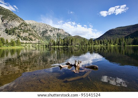 Officers Gulch Pond - stock photo