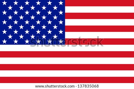 Official flag of USA nation - stock photo