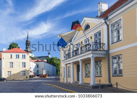 Official residence of the German ambassador on Lossi plats in Tallinn, architect Fr. Schatten 1818