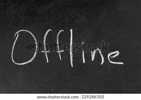 Offline word handwritten with chalk