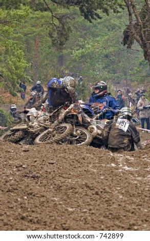Offroad race with motorcycles