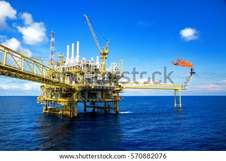 Offshore Construction Platform Production Oil Gas Stock ... Horizontal Oil Well Drilling