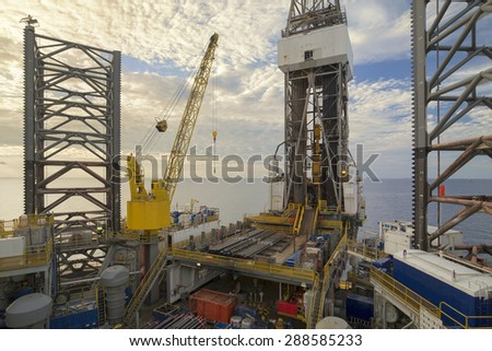 Offshore Jack Up oil Rig.
