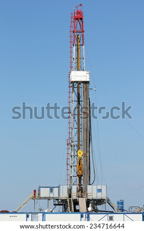 offshore oil drilling rig - stock photo