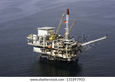 Offshore Oil Platform aerial view