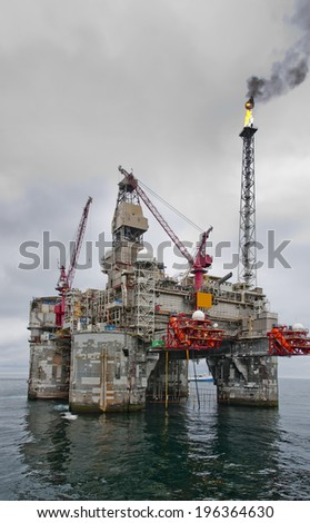 Offshore Platform , Rig - stock photo