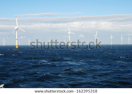 Offshore Wind Farm - stock photo