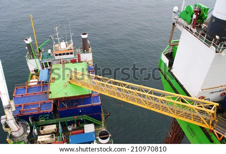 Offshore wind farm Industry - stock photo