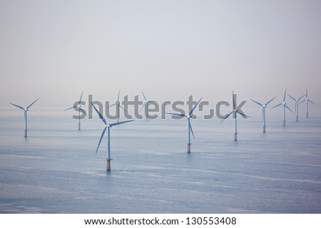Offshore wind turbine farm