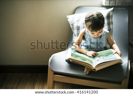 Offspring Toddler Adolescent Cheerful Girl Happy Concept - stock photo
