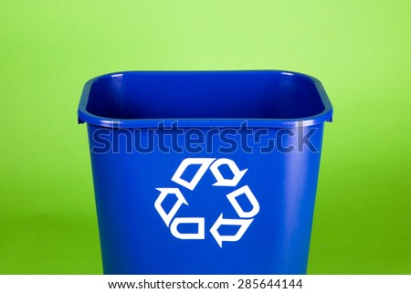 Often used in offices to recycle paper, this is a great recycling image with room for  your individual message. - stock photo