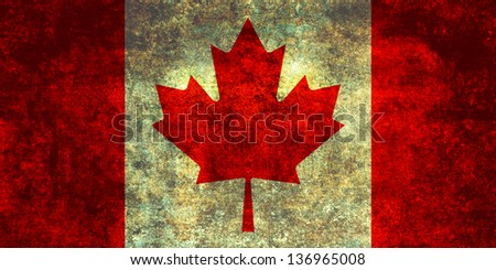 Oh Canada! True Patriot's Canada's proud Maple Leaf Full Flag - stock photo