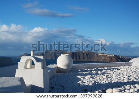 Oia is a village in the Cyclades. It is located on the main island Thira, or Thera, at Santorini, Greece