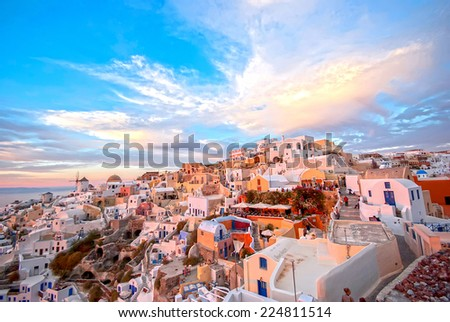 Oia Santorini, Greece - stock photo