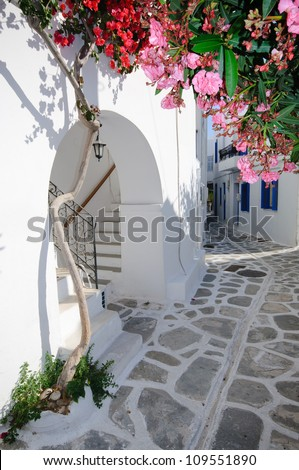 Oia, Santorini island, Greece - stock photo