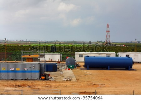 oil and gas drilling - stock photo