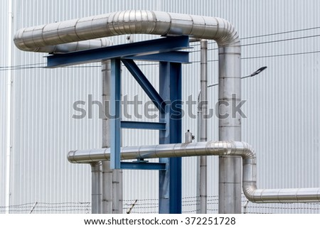 Oil and gas pipelines in the industry. - stock photo