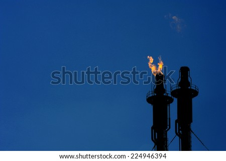 Oil and gas refinery complex  - stock photo
