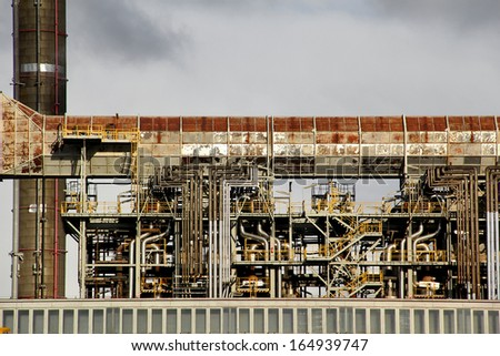 Oil and gas refinery detail