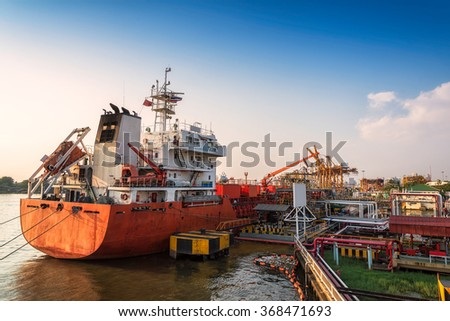 Oil and gas transport ship, industry liquefied natural gas tanker