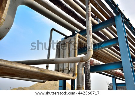 Oil and gas transportation pipe