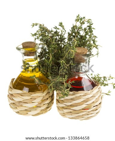 Oil and Vinegar with thyme