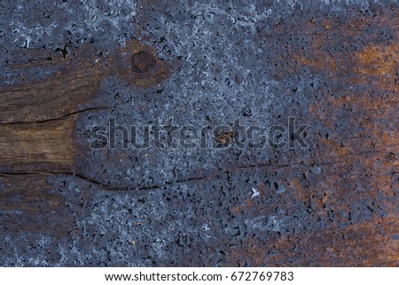 Oil and water on Railroad tie