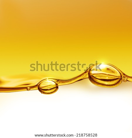Oil background with air bubbles - stock photo