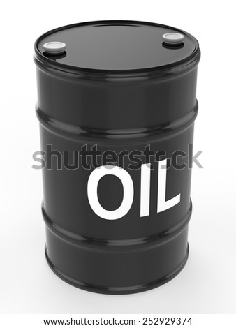 oil barrel - stock photo