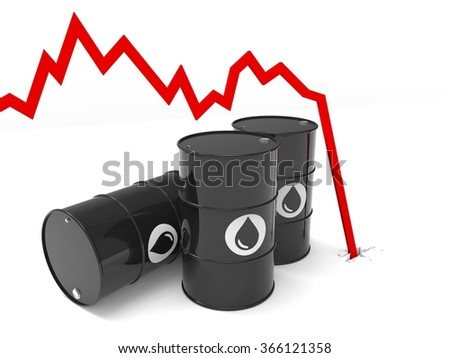 oil barrel price drop multiple