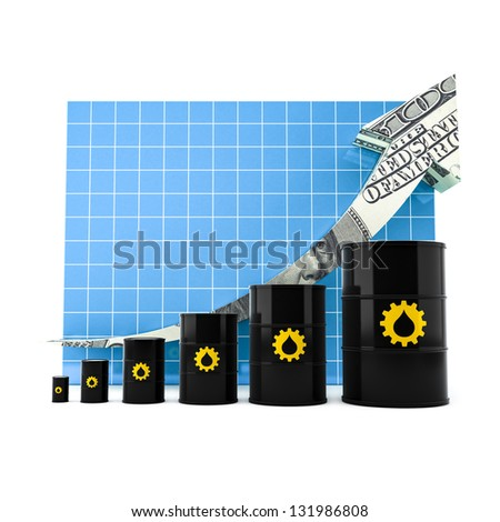 Oil Barrel with the Arrow Graph. JPG with clipping path.