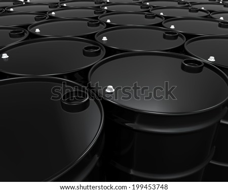 Oil Barrels Isolated - stock photo