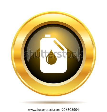 Oil can icon. Internet button on white background.  - stock photo