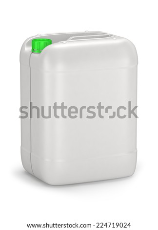 Oil canister isolated on white background - stock photo