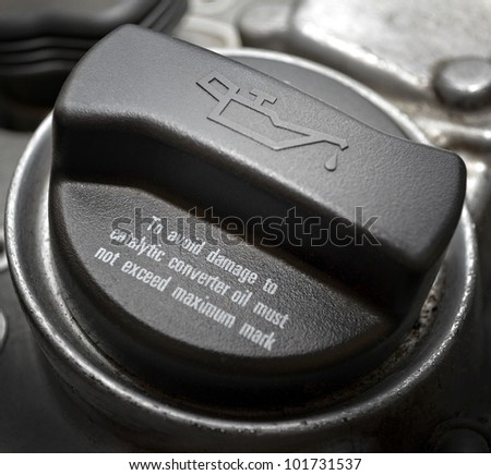 Oil cap close up