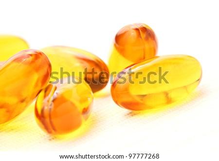 oil capsule - stock photo