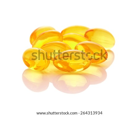 oil capsule isolated - stock photo