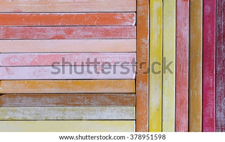 Oil chalks in box - stock photo