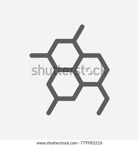 Oil Chemical Reaction Icon Line Symbol Stock Illustration 779983216