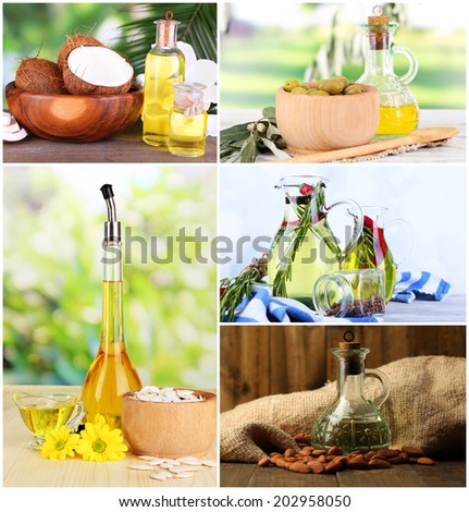 Oil collage - stock photo