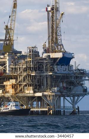 Oil Drilling Platform - stock photo