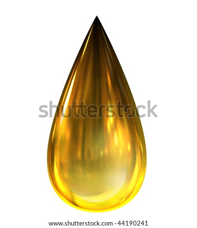 Oil Drop with reflections - stock photo