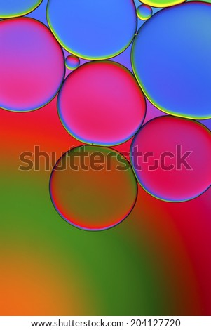 Oil droplets abstract background - stock photo