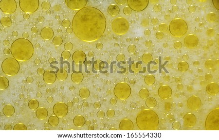 oil droplets under a microscope - stock photo