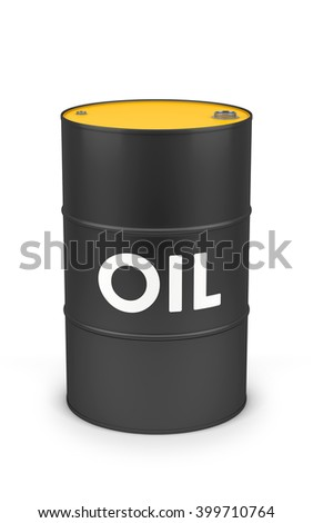 Oil drum isolated on white with clipping path. 3d rendering - stock photo
